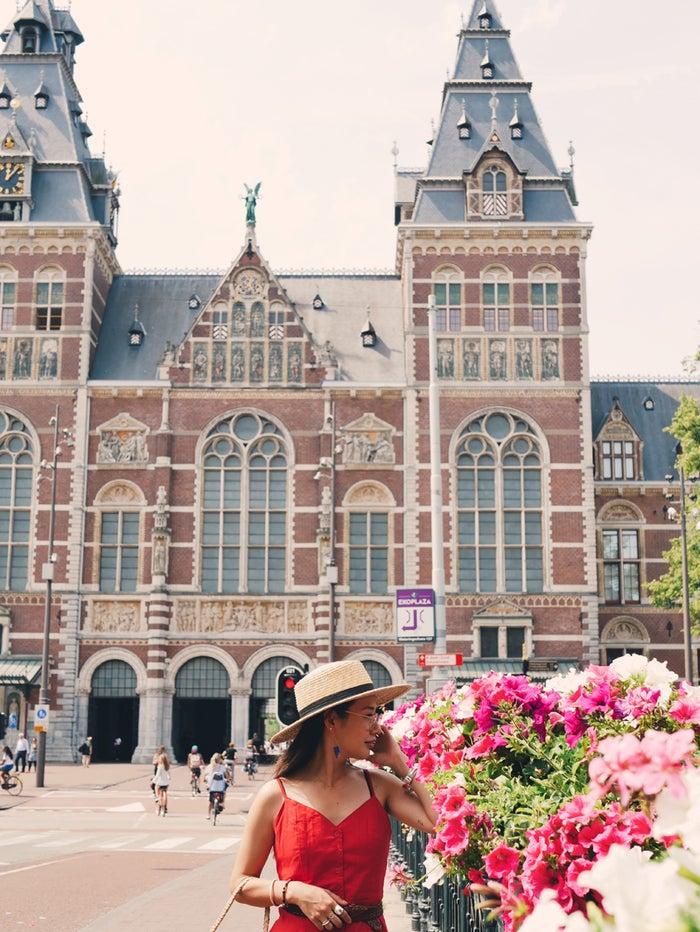 アムステルダム国立美術館の外観。レンガの建物が美しい!<br> @lifestock_yuuki