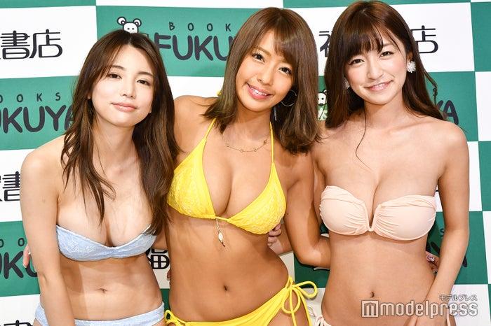 (左から)仲村美海、橋本梨菜、☆HOSHINO (C)モデルプレス