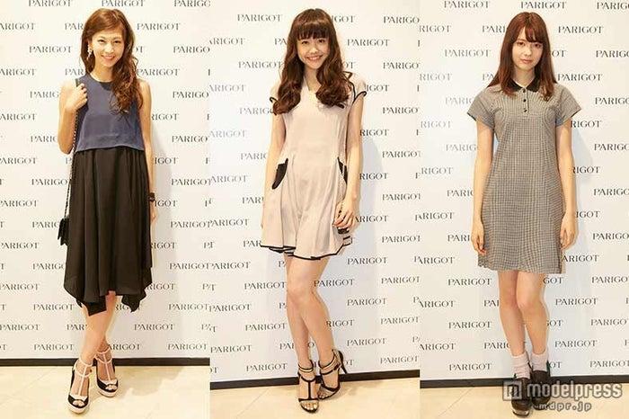 「PARIGOT(パリゴ)」丸の内店レセプションパーティーに来場した(左から)安田美沙子、松井愛莉、八木アリサ【モデルプレス】
