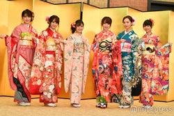 HKT48(左から)神志那結衣、植木南央、本村碧唯、宮脇咲良、森保まどか、熊沢世莉奈 (C)モデルプレス