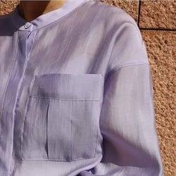 ちょうどいいを見つけた♡ 透け感&光沢感が抜群「大人のシアーシャツ」