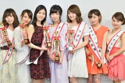 (左から)吉川朋芳、鈴木みう、吉田さくら、原口未帆、喜多川あゆ、入澤優、鶴田真子 (C)モデルプレス