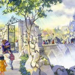 「美女と野獣の城」の外観 (C)Disney