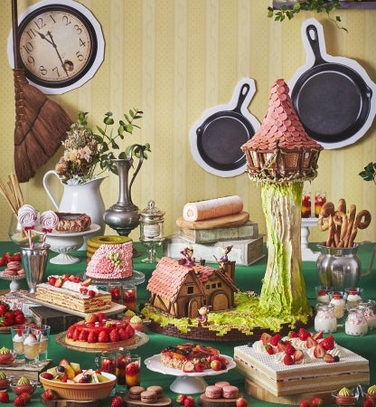 いちごスイーツビュッフェ 第1弾 見習い魔女のお菓子工房 イメージ/画像提供:ロイヤルホテル