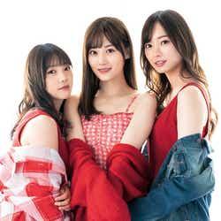 モデルプレス - 乃木坂46梅澤美波・山下美月・与田祐希、肩出しコーデで素肌チラリ