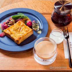 「キャンディ茶葉のミルクティー」×「とろけるチーズトースト」(C)モデルプレス