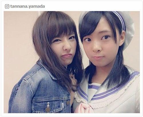 山田菜々、NMB48加入の妹・寿々と「姉妹共演」 2ショットお披露目に ...