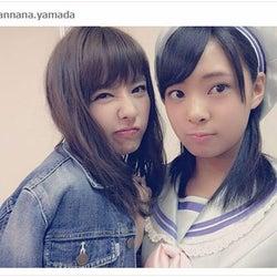 山田菜々、NMB48加入の妹・寿々と「姉妹共演」 2ショットお披露目に「そっくり」「美人家系」の声続々