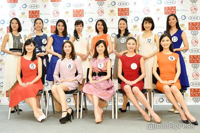 「ミス日本2019」ファイナリスト13名がお披露目(C)モデルプレス