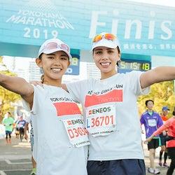 チャベス愛、坪井ミサトと抱き合い号泣 フルマラソンに初挑戦