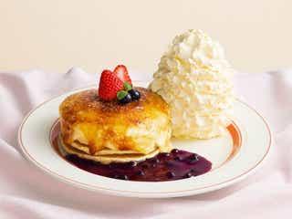 エッグスンシングス「クリームチーズのブリュレパンケーキ」濃厚クリームをパリッとキャラメリゼ