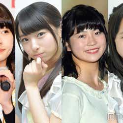 ニコニコ(左から)松岡はな、久保怜音、小畑優奈、山本彩加(C)モデルプレス