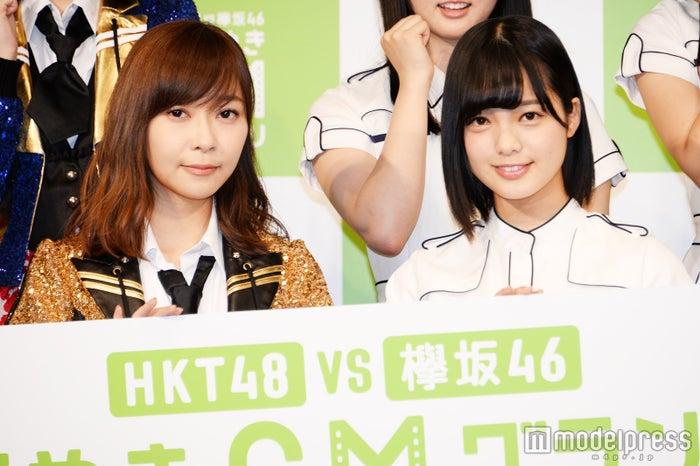 新キャンペーン発表イベントに出席した指原莉乃、平手友梨奈 (C)モデルプレス