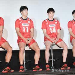 (左から)福澤達哉、西田有志、石川祐希、柳田将洋(C)モデルプレス