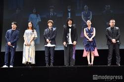 (左から)北村一輝、山本美月、岩田剛典、斎藤工、浅見れいな、瀧本智行監督 (C)モデルプレス
