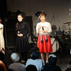 (左より)三戸なつめ、青柳文子、棚kりな、武智志穂