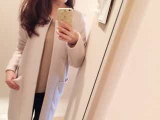 大人っぽくて上品見えする♡ ノーカラーのきれいめコートで、まろやかな着こなしに