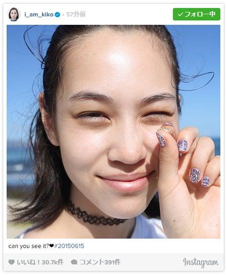 肌の美しさに注目が集まったショット/水原希子Instagramより【モデルプレス】