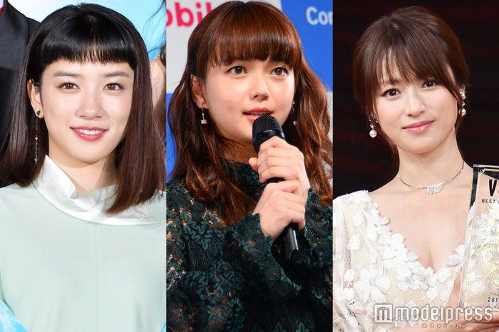 (左から)永野芽郁、多部未華子、深田恭子(C)モデルプレス