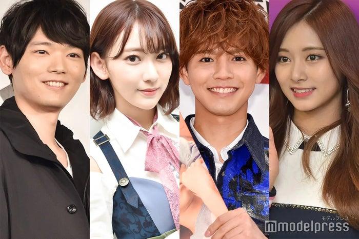 左から:古川雄輝、宮脇咲良、片寄涼太、ツウィ(C)モデルプレス