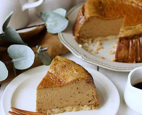 グルテンフリー♪黒糖きな粉の濃厚チーズケーキ