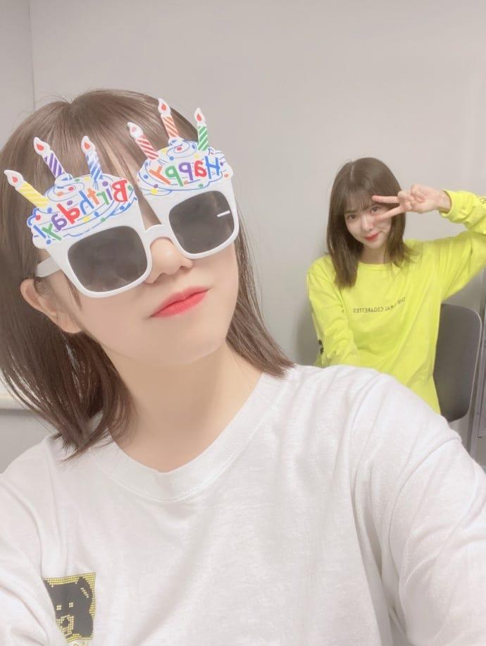 イメチェン後の武元唯衣、松平璃子/武元唯衣オフィシャルブログより