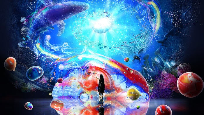 OCEAN BY NAKED 光の深海展/画像提供:アカツキライブエンターテインメント