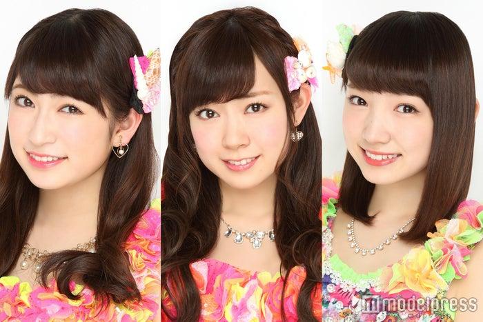 「関西コレクション2016S/S」にモデルとしても出演する(左から)吉田朱里、渡辺美優紀、太田夢莉(C)NMB48