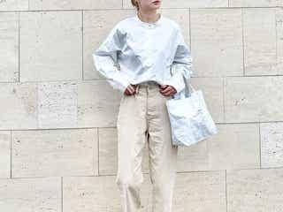 旬のバンドカラー、どう着こなす? バンドカラーシャツ&ワンピースの最旬コーデ9選♪