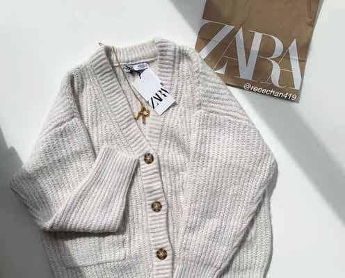 完全にひとめぼれ♡【ZARA・H&M】ゆるっと感が可愛い「ニットカーデ」