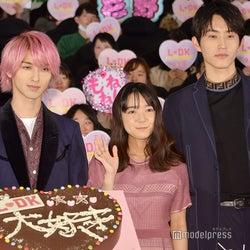 (左から)横浜流星、上白石萌音、杉野遥亮(C)モデルプレス