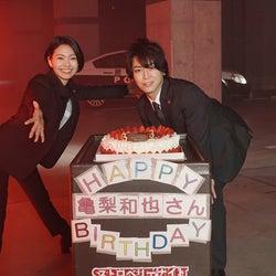 "KAT-TUN亀梨和也、サプライズに喜び 二階堂ふみは""30cm以上カット""で初の刑事役<ストロベリーナイト・サーガ>"