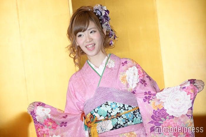 AKB48グループ成人式記念撮影会での森田彩花(C)モデルプレス
