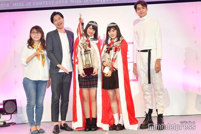 左から:相席スタート(山崎ケイ、山添寛)、あれんさん、みゆんさん、kemio (C)モデルプレス