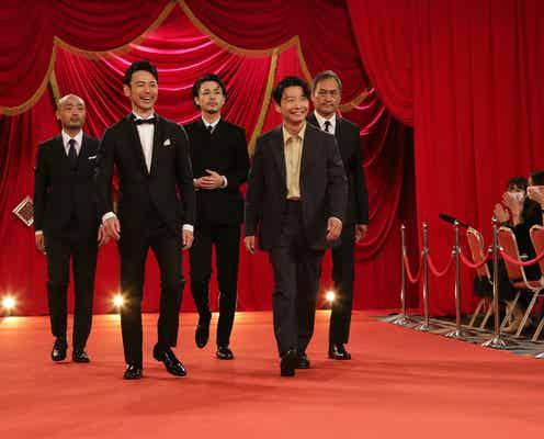 妻夫木聡&成田凌、ヒゲ姿でワイルドに 星野源らとスーツ姿でレッドカーペット登場<第44回日本アカデミー賞>
