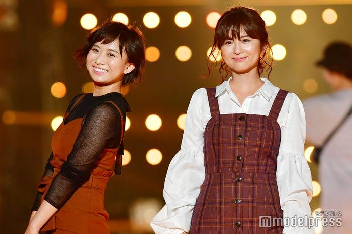 (左から)山本雪乃アナ、宇賀なつみアナ (C)モデルプレス