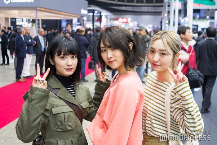 SNS映えのテクニックも学べる4日間 話題のフォトジェニック・アート展も登場/(左から)広瀬ちひろさん、まつきりなさん、前山奈津巴さん(C)モデルプレス