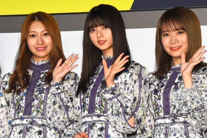 (左から)桜井玲香、齋藤飛鳥、秋元真夏 (C)モデルプレス