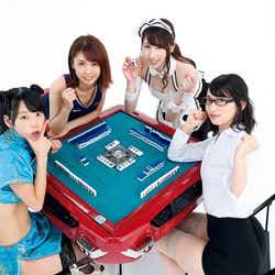 (左から)青山ひかる、三宿菜々、吉田早希、倉持由香(C)福田ヨシツグ/週刊FLASH