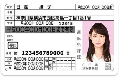 ピンク色背景の免許証(イメージ)