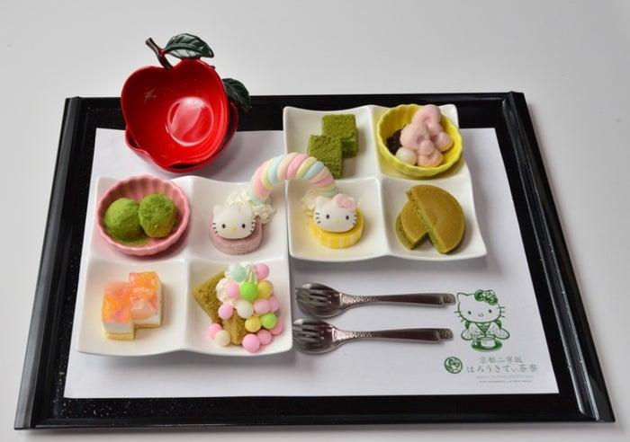 はろうきてぃ 虹のおさんぽケーキプレート ラテセット2,680円(提供画像)