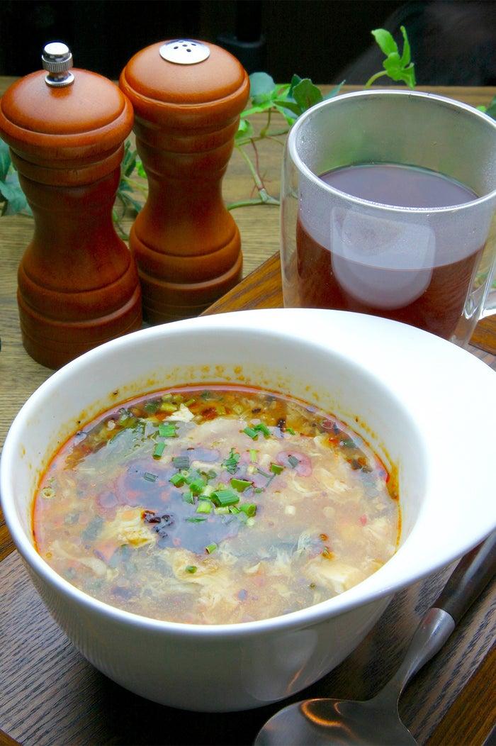 ドリンクとセットでより身体も温まる/画像提供:Soup+