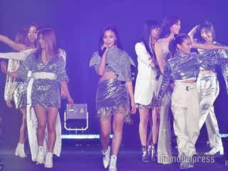 解散発表のE-girls、美ボディ披露「シンデレラフィット」「Follow Me」人気ナンバーで熱気上げる<TGCしずおか2020>