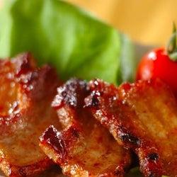 即席角煮風に仕上がる! 「豚バラ肉のソテー 梅オイスターソース」