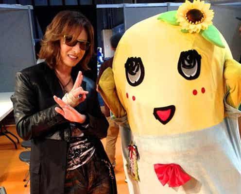 X JAPAN・YOSHIKI×ふなっしー、貴重な2ショット披露 パリで豪華コラボが実現