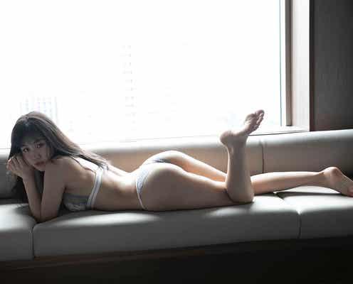 "CYBERJAPAN・HARUKA、体操で鍛えた""しなやか美ボディ"" ランジェリーカット公開"