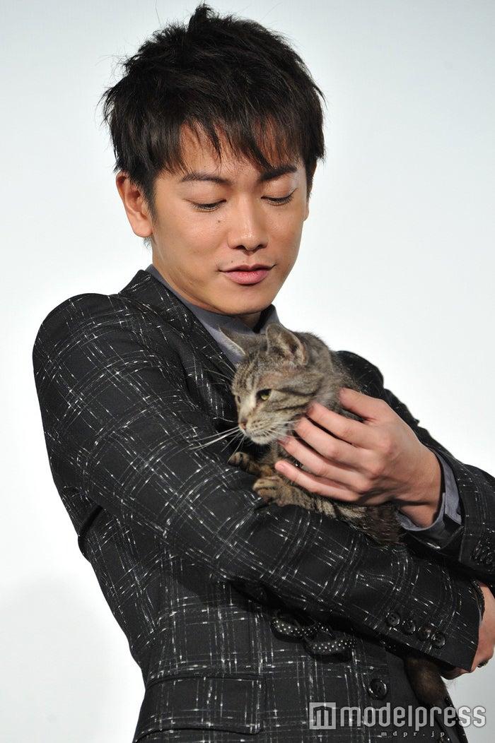 映画「世界から猫が消えたなら」で共演した佐藤健とパンプ/公開初日舞台あいさつより (C)モデルプレス
