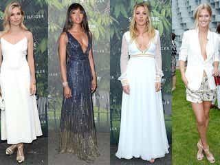 エリー・ゴールディング、ナオミ・キャンベルら大胆ドレスで美バスト披露 豪華セレブリティが「トミー ヒルフィガー」パーティーに集う