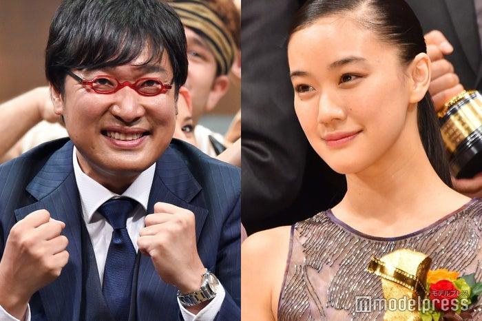 (左から)山里亮太、蒼井優(C)モデルプレス