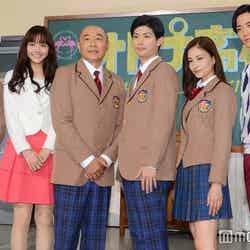 (左から)夕輝壽太、松井愛莉、高橋克実、三浦春馬、黒木メイサ、竜星涼 (C)モデルプレス